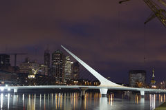 Puerto Madero by night, Buenos Aires Royalty Free Stock Photo