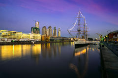 Puerto Madero at the Night, Buenos Aires Royalty Free Stock Photo