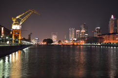 Night skyline of Puerto Madero at night, Buenos Aires, Argentina (l Stock Photo
