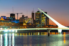 Puerto Madero at night, harbor of Buenos Aires Argentina Stock Photos