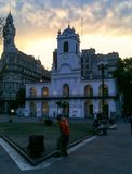 Puerto Madero på skymning royaltyfria foton