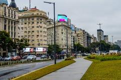 Puerto Madero przy półmrokiem Obrazy Royalty Free