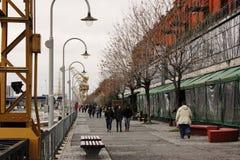 Puerto Madero przy półmrokiem Zdjęcia Royalty Free