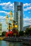 Puerto Madero żuraw Obrazy Stock