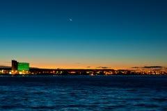 Puerto Madryn al tramonto Fotografia Stock Libera da Diritti