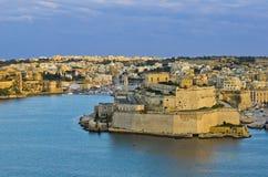 Puerto magnífico de La Valeta, Malta Fotografía de archivo