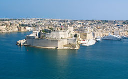 Puerto magnífico, valletta, capital de Malta fotografía de archivo