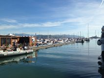Puerto marítimo Foto de archivo libre de regalías