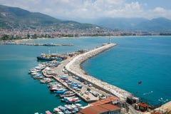 Puerto marítimo de Alanya Imagen de archivo