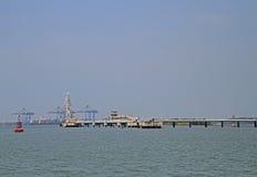 Puerto marítimo de Kochi, la India Foto de archivo libre de regalías