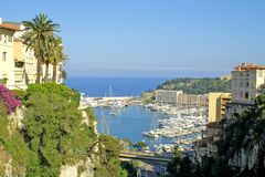 Puerto marítimo de Monte Carlo Fotografía de archivo