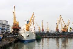 Puerto marítimo de Odessa Foto de archivo