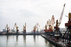 Puerto marítimo de Odessa Foto de archivo libre de regalías