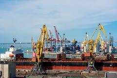 Puerto marítimo de Odessa Black Sea Ukraine fotos de archivo libres de regalías
