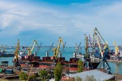 Puerto marítimo de Odessa Black Sea Ukraine imagen de archivo libre de regalías