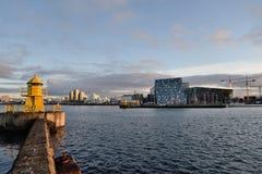 Puerto marítimo de Reykjavik Imagen de archivo