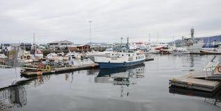Puerto marítimo de Reykjavik Fotos de archivo libres de regalías