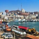 Puerto marítimo de Vladivostok, Rusia Fotografía de archivo libre de regalías