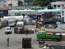 Puerto marítimo de Zamboanga, Filipinas imagen de archivo libre de regalías