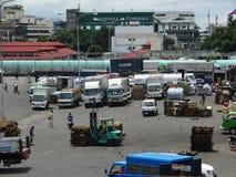 Puerto marítimo de Zamboanga, Filipinas Imágenes de archivo libres de regalías