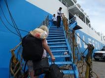 Puerto marítimo de Zamboanga, Filipinas Fotografía de archivo libre de regalías