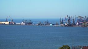 Puerto marítimo del embarcadero almacen de metraje de vídeo