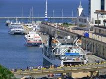 Puerto marítimo del pasajero Fotos de archivo libres de regalías