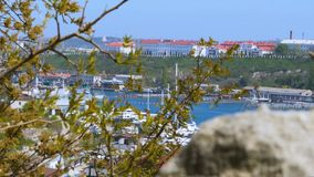 Puerto marítimo en la Bay City almacen de metraje de vídeo