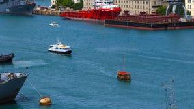 Puerto marítimo en la Bay City metrajes