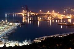 Puerto marítimo en Málaga, España Foto de archivo libre de regalías