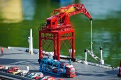 Puerto marítimo en miniatura Foto de archivo libre de regalías