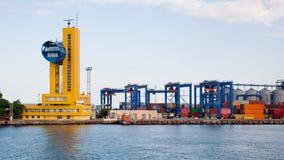 Puerto marítimo en Odessa Imagen de archivo libre de regalías