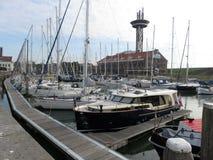 Puerto marítimo en Vlissingen, Holanda Imagen de archivo libre de regalías