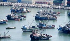 Puerto marítimo industrial fotos de archivo