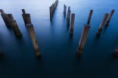 Puerto marítimo natural del abandono de la almeja Foto de archivo