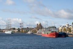Puerto marítimo St Petersburg Imagenes de archivo