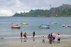 Puerto marítimo tropical Blair India de la costa de la lluvia Imágenes de archivo libres de regalías