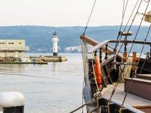 Puerto marítimo Varna, Bulgaria imagen de archivo