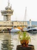 Puerto marítimo Varna, Bulgaria fotografía de archivo