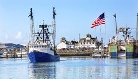 Puerto marítimo Washington de los grises de Westport del museo del barco de pesca imágenes de archivo libres de regalías