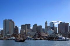 Puerto Massachusetts de Boston imagenes de archivo
