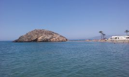 Puerto mazarron. Little island of puerto de mazarron & x28;Murcia. Spain & x29 Royalty Free Stock Image