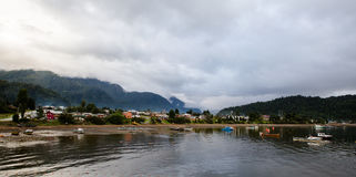 Puerto Melinka 免版税库存照片