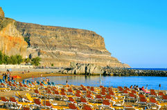 Puerto Mogan beach in Gran Canaria, Spain Royalty Free Stock Photos