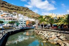 Puerto Mogan canaria gran 西班牙 库存照片