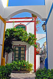 Puerto Mogan - Gran Canaria. Typical colonial house at Puerto de Mogan, Gran Canaria, Spain Stock Photo