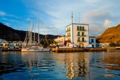 Puerto Mogan Gran Canaria stock afbeelding
