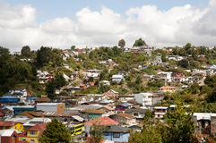 Puerto Montt - Chile. Residential Houses in Puerto Montt - Chile royalty free stock photos