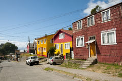 Puerto Montt - Chile. Wooden Houses in Puerto Montt - Chile stock photography