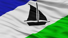 Puerto Montt City Flag, Chile, Closeup View Royalty Free Illustration